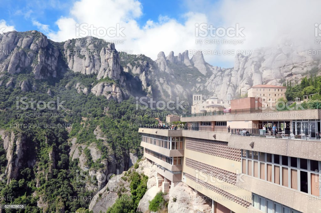 Montserrat monastery stock photo