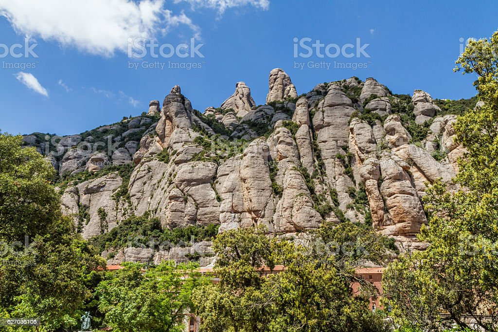 Montserrat mountains, Spain stock photo