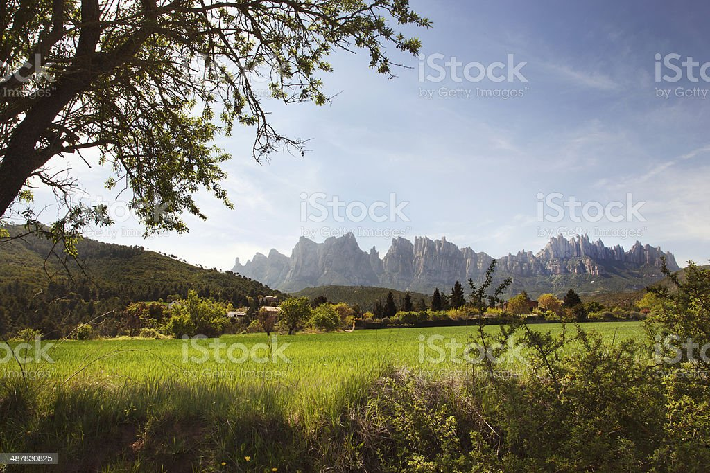 Montserrat Natural reserve in Catalonia stock photo