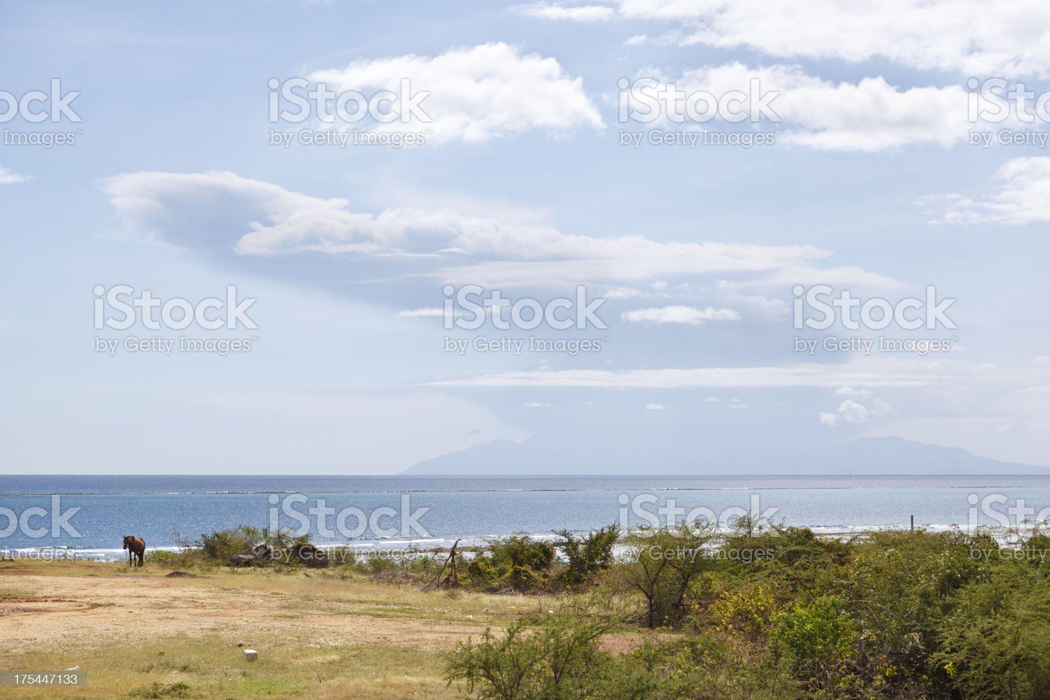 Montserrat Volcano Eruption royalty-free stock photo