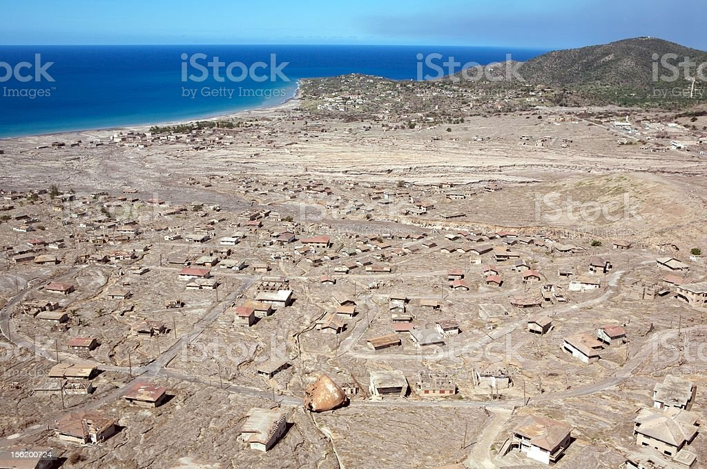 Montserrat Volcano Pyroclastic Flow stock photo