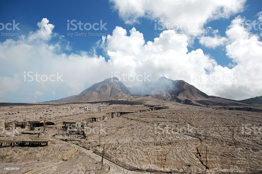 Montserrat Volcano Pyroclastic Flow stock photo