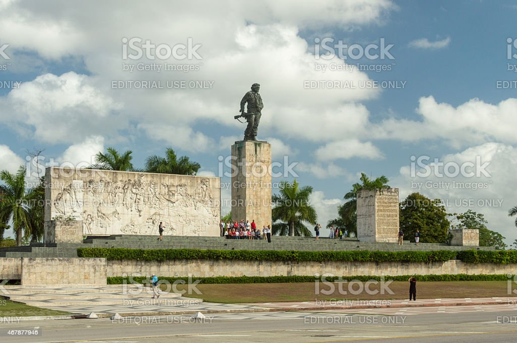 Monument and tomb Che Guevara stock photo