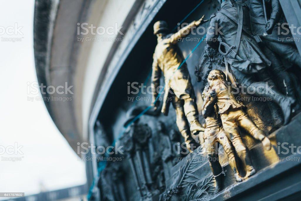 Monument at the centre of the Place de la République stock photo