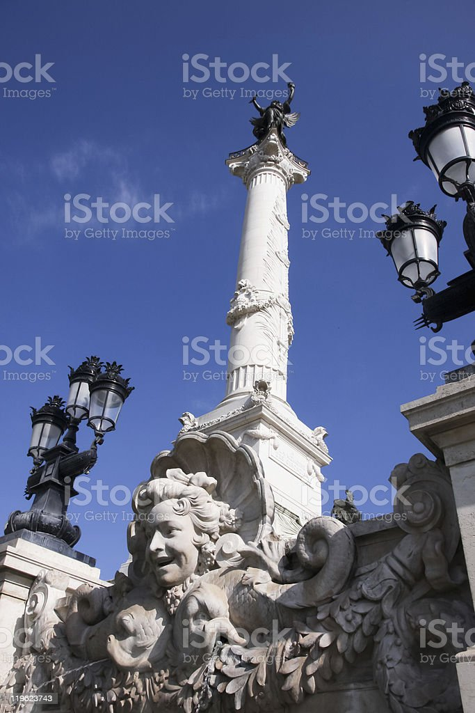 Monument aux Girondins royalty-free stock photo