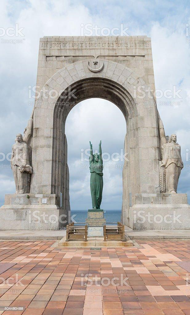 Monument aux morts de l'Armée d'Orient stock photo