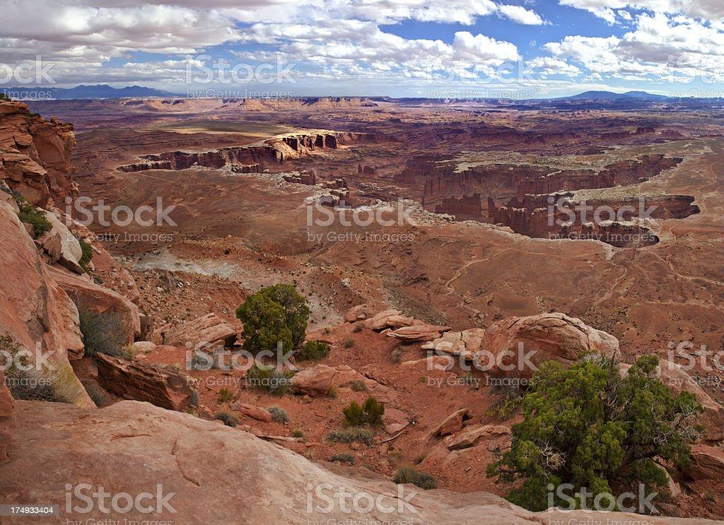 Monument Basin, Canyonlands royalty-free stock photo