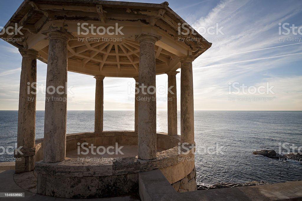 Monument beachfront stock photo