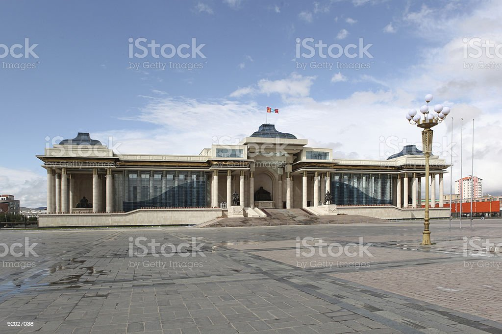 Monument Chinggis Khaan stock photo