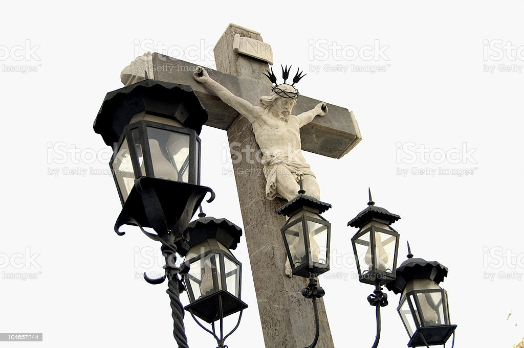 Monument Christ of the lanterns in C?rdoba stock photo