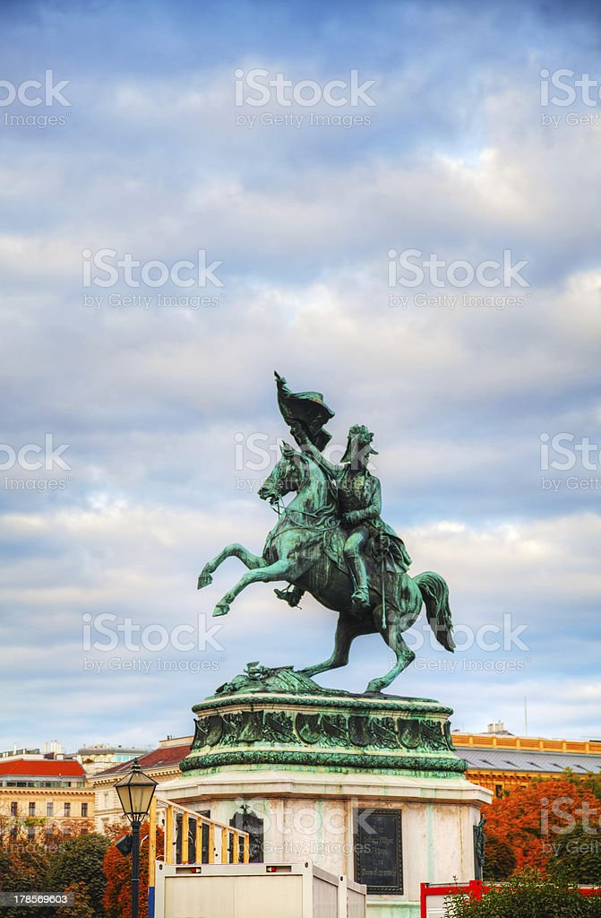 Monument dedicated to Archduke Charles of Austria stock photo