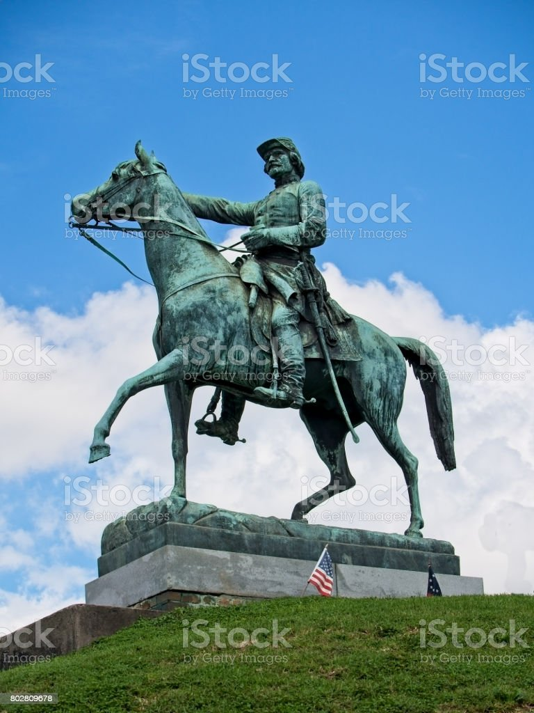 Monument for a Civil War General 2 stock photo