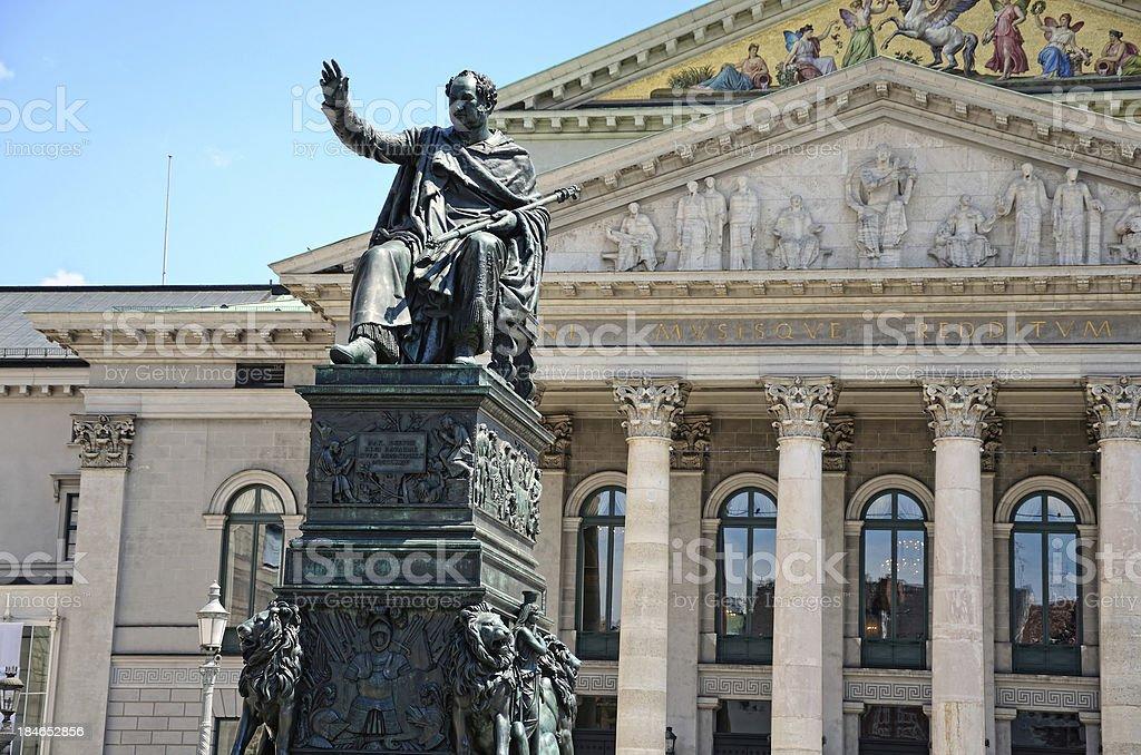 Monument for King Maximilian Joseph stock photo