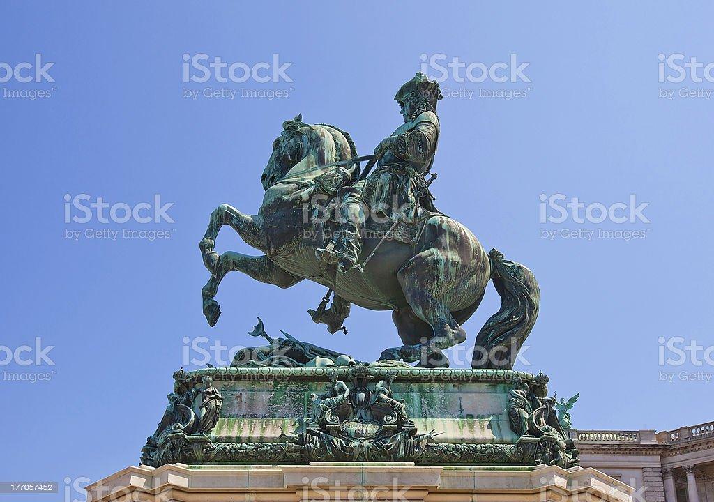Monument for Prince Eugene of Savoy (1865). Vienna, Austria royalty-free stock photo