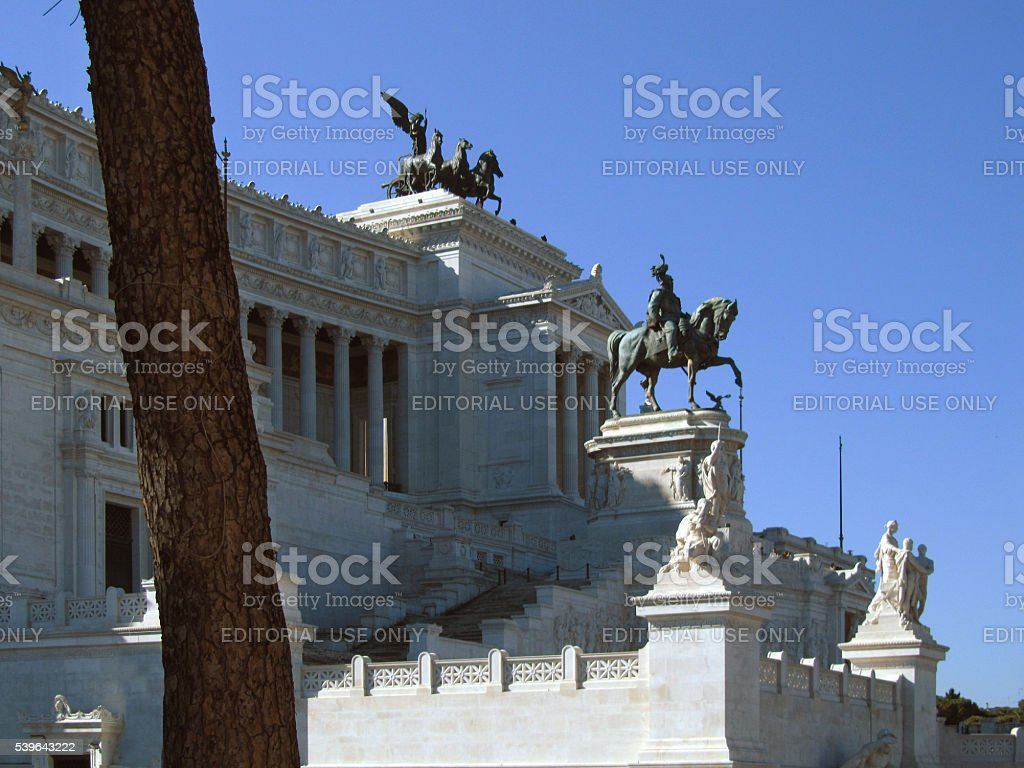 Monument for Victor Emmanuel, Rome, Italy stock photo