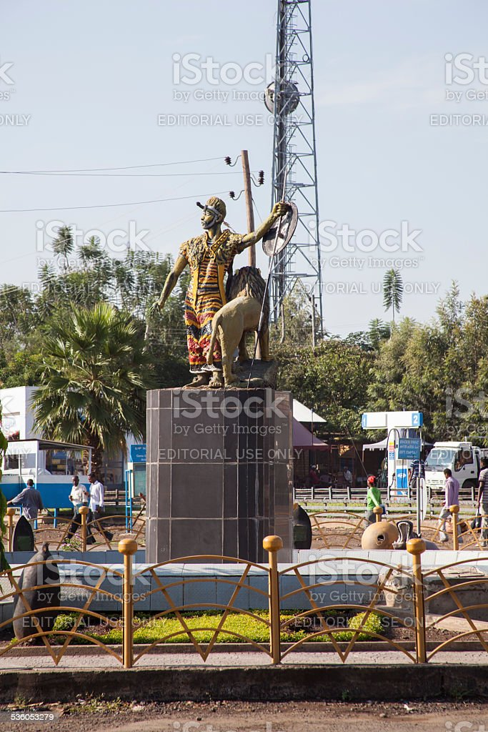Monument in Addis Ababa stock photo