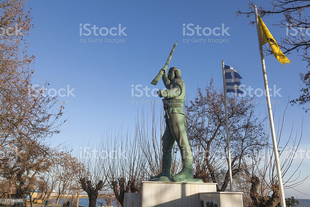 Monument in Alexandroypolis - Greece stock photo