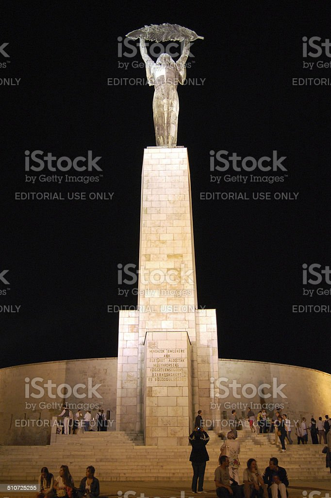 monument in Budapest stock photo