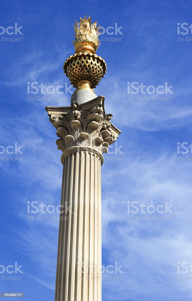 Monument in City of London, England stock photo