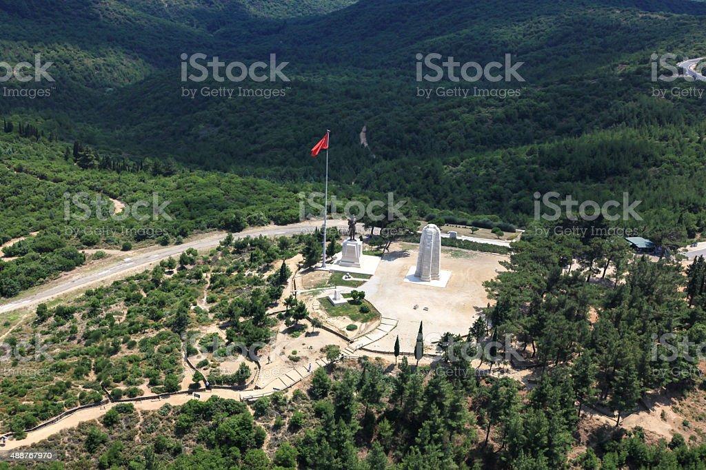 Monument in Gallipli Canakkale Turkey stock photo