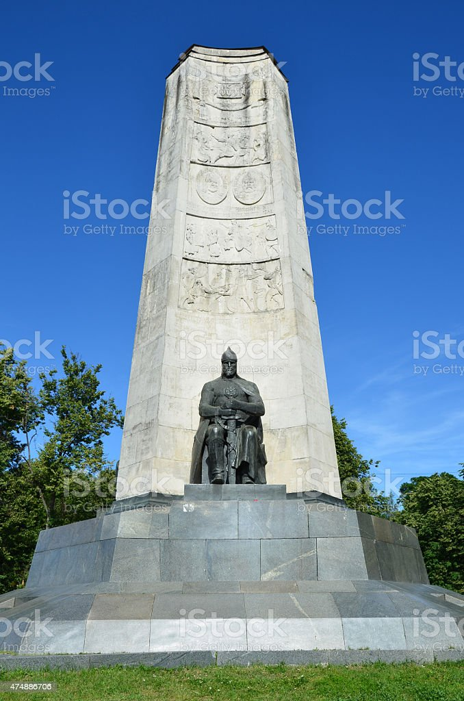 Monument in honor of the 850th anniversary of Vladimir city stock photo