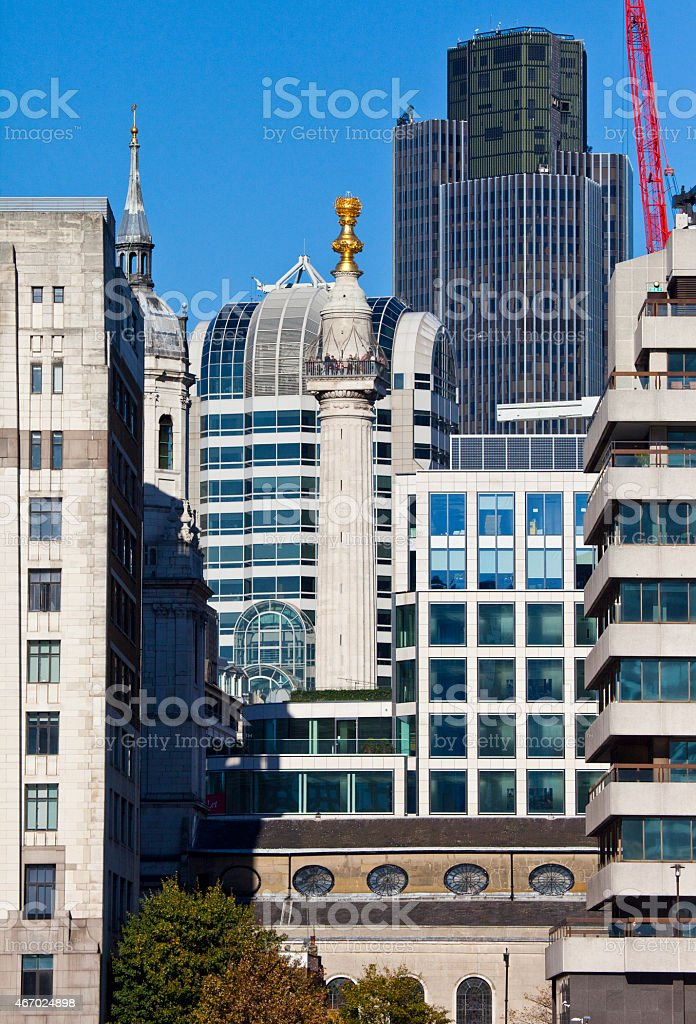 Monument in London stock photo