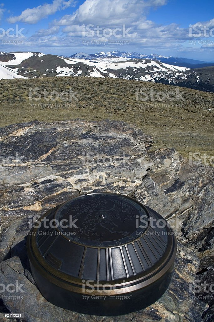 Monument in Rockies royalty-free stock photo