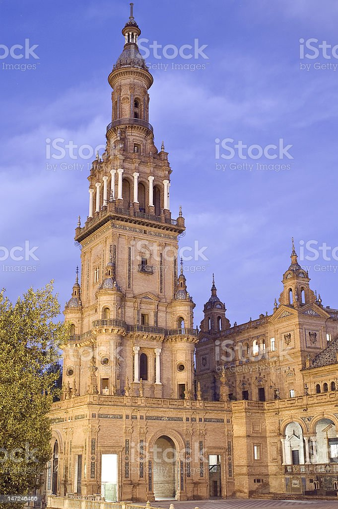 Monument in Seville royalty-free stock photo