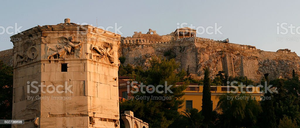 monument in the city of Athens. ancient architecture stock photo