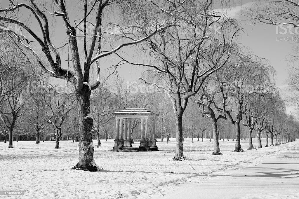 monument in the park royalty-free stock photo