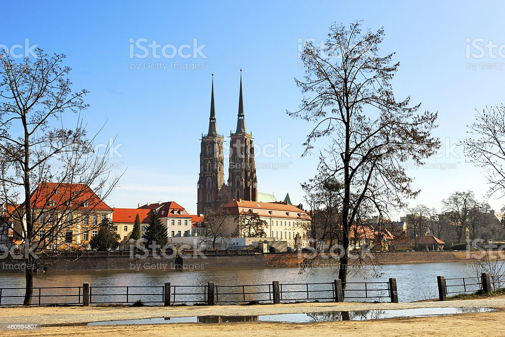 Monument in Wroclaw, Poland stock photo