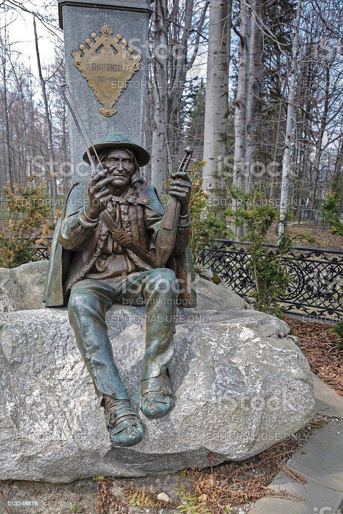 Monument in Zakopane in Poland stock photo