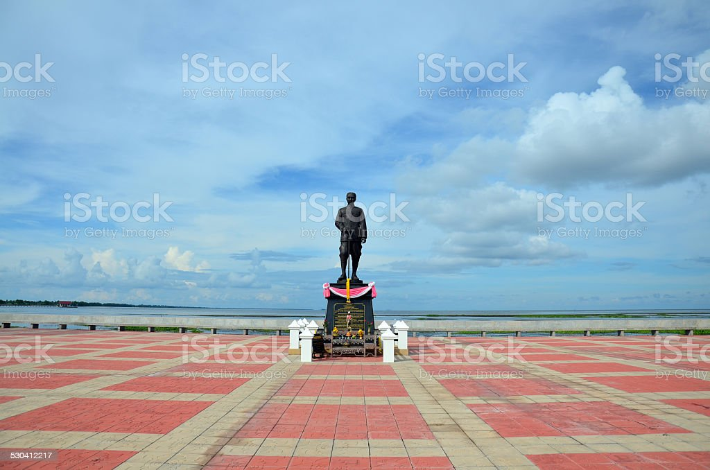 Monument King Rama at Public park stock photo