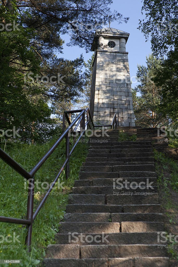 Monument Laimes Ziburys stock photo