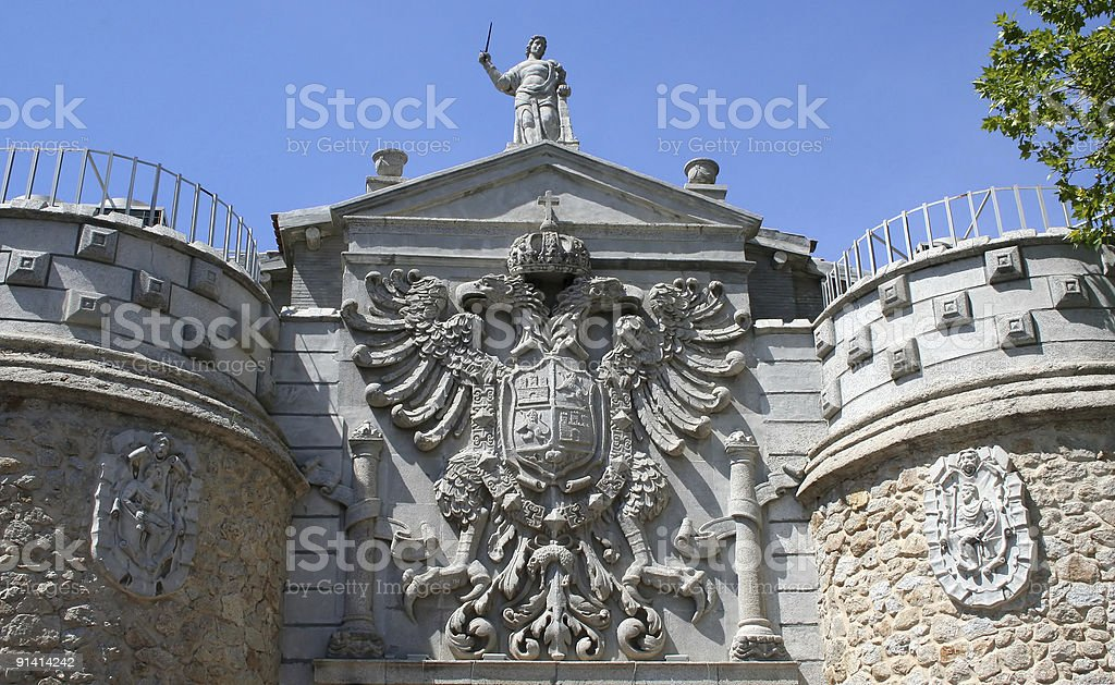 Monument, Madrid, Spain royalty-free stock photo