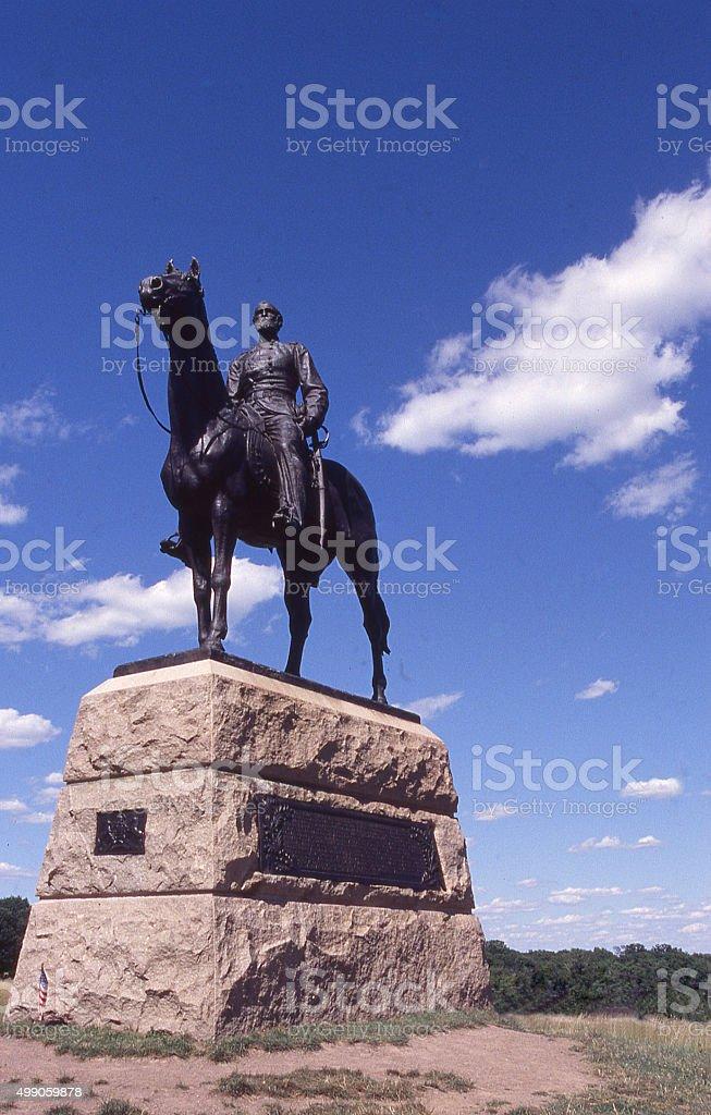 Monument Meade Cemetery Ridge Gettysburg National Battlefield Park Pennsylvania stock photo