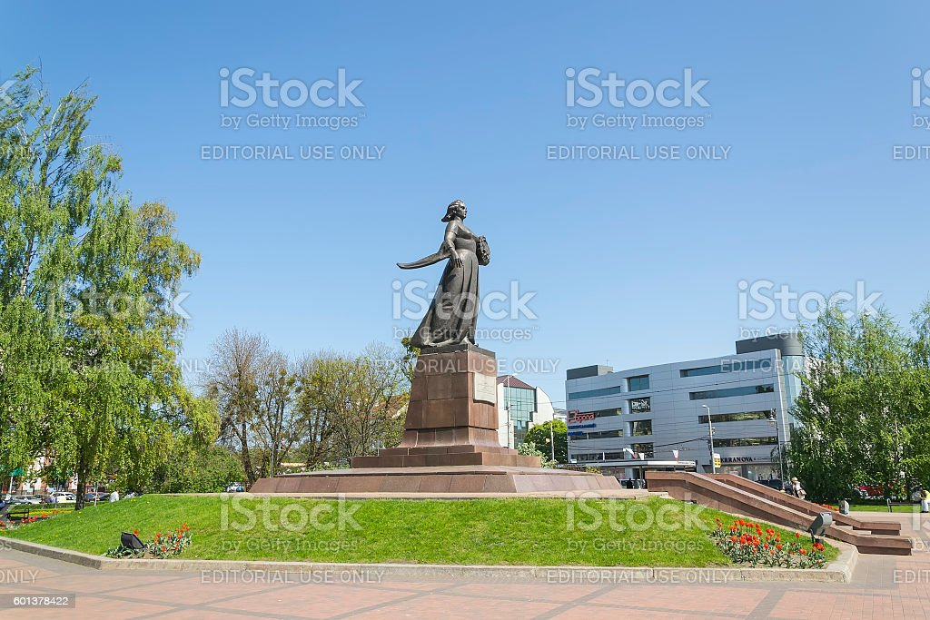 Monument 'Mother-Russia'  in Kaliningrad stock photo