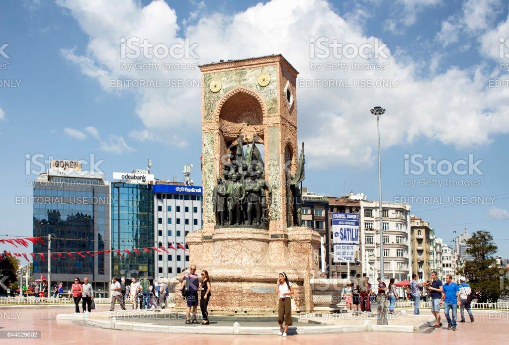 Monument named 'Cumhuriyet Anıtı' stock photo