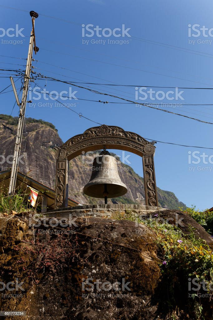 Monument near mount Adam's Peak in Sri Lanka stock photo