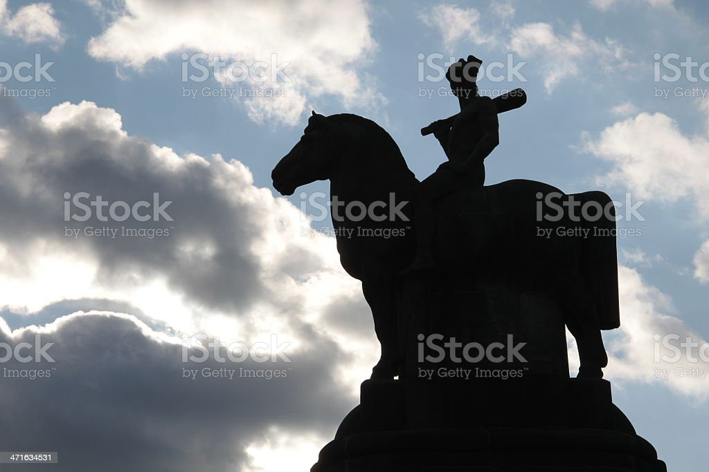 Monument of a warrior stock photo
