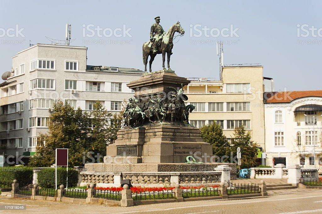 Monument of  Alexander II stock photo