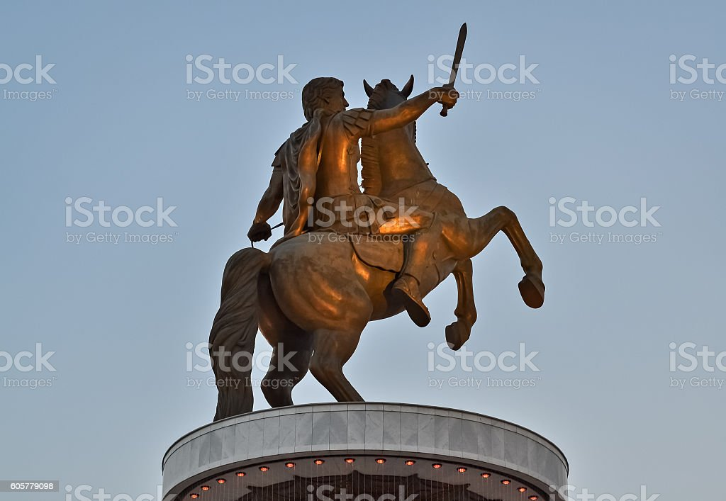 Monument of Alexander stock photo