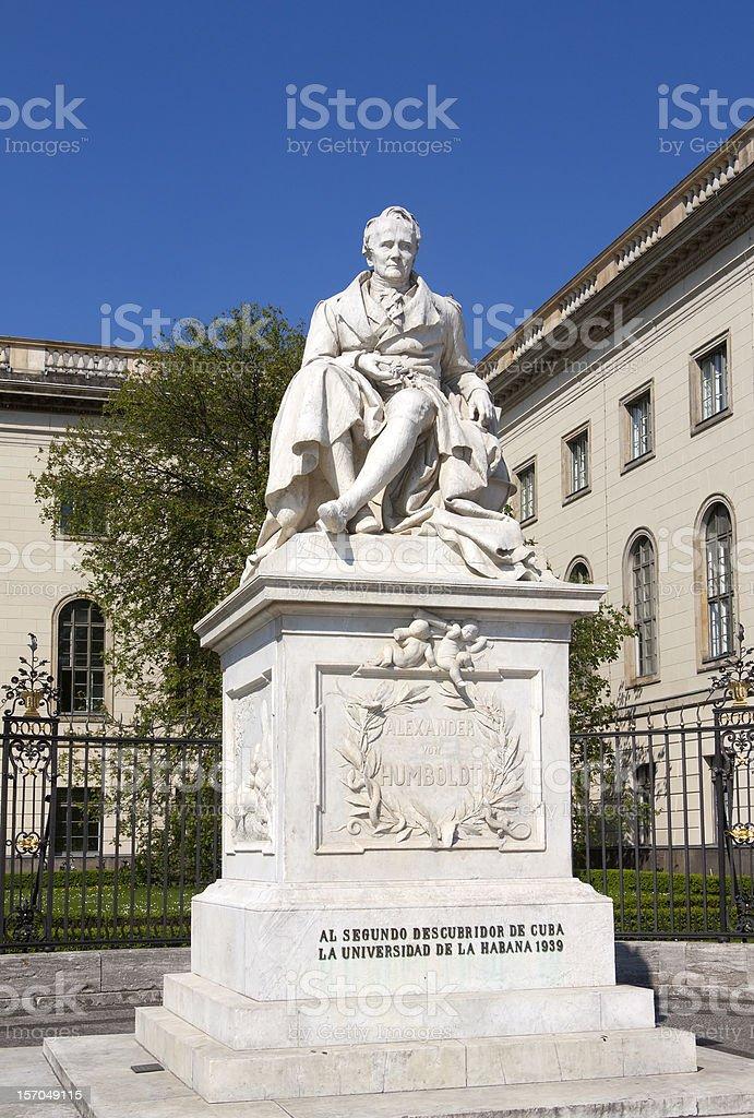 Monument of Alexander von Humboldt stock photo