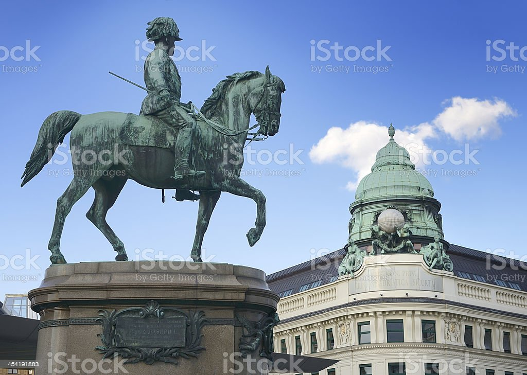 Monument of Archduke Albert at the Albertina in Vienna royalty-free stock photo