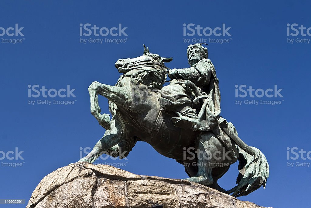 Monument of Bogdan Khmelnitsky, Kiev royalty-free stock photo