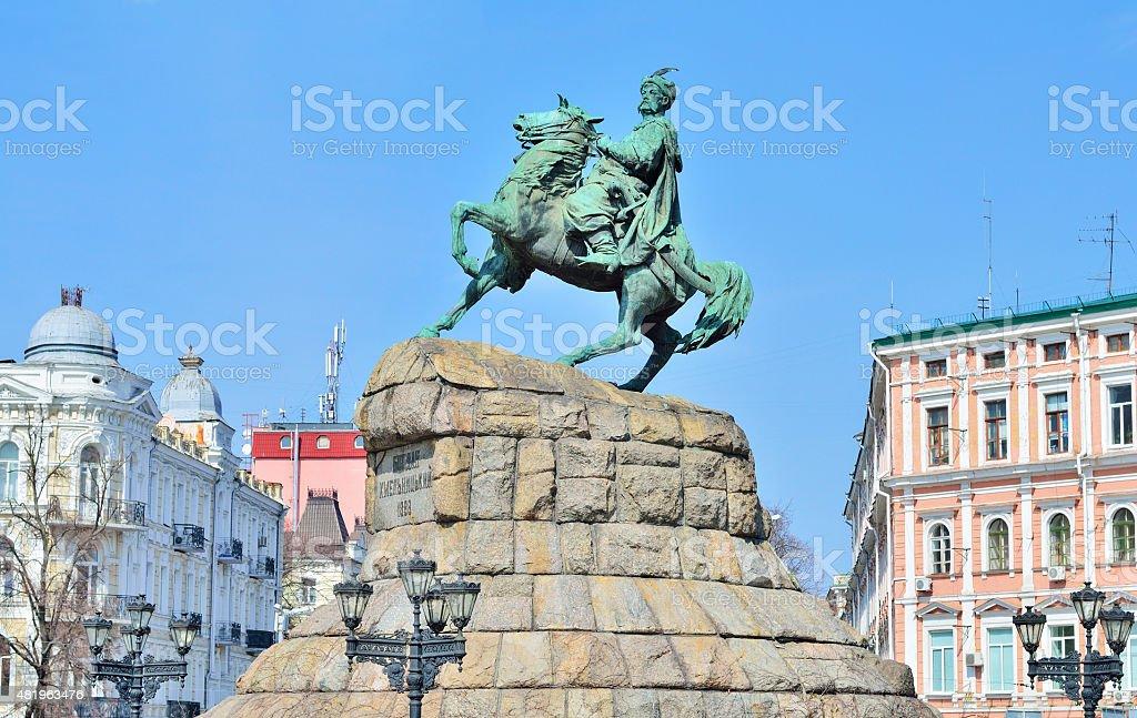 monument of Bogdan Khmelnytsky stock photo