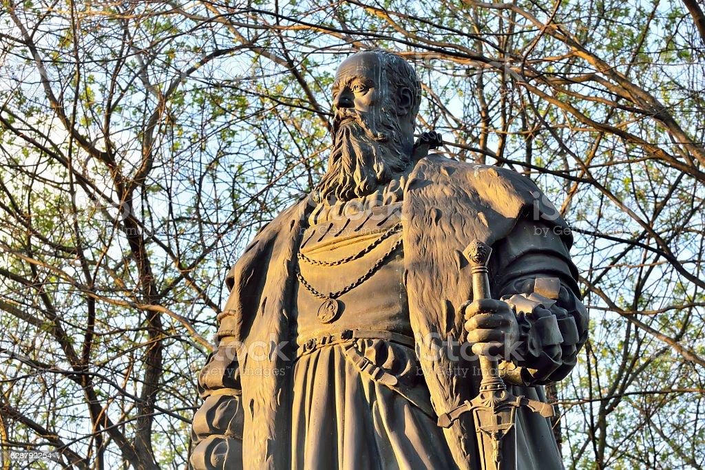 Monument of Duke Albrecht, 1891. Kaliningrad, formerly Koenigsbe stock photo