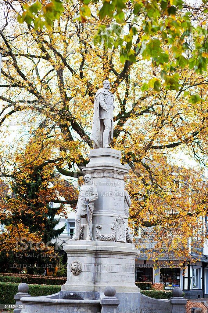 Monument of Emperor Wilhelm I stock photo