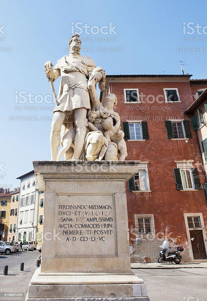 Monument of Ferninando del Medici stock photo
