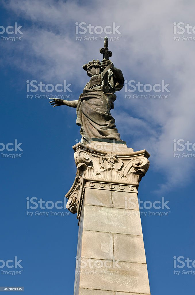 Monument of Freedom in Ruse, Bulgaria stock photo